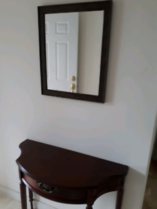 Beautiful Front hall table with matching mirror