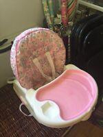 Portable pink highchair