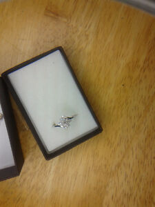 Cubic Zirconia  Sterling Silver Ring London Ontario image 5