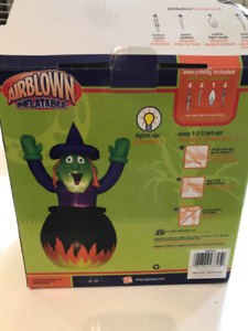 HALLOWEEN WITCH & CAULDRON INFLATABLES