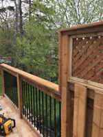 We do decks, fences and siding! Renovations or new construction.