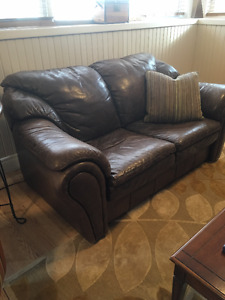 Leather Couch Love Seat - High Quality