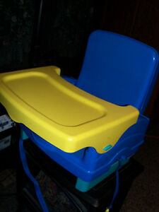 Spacesaver portable highchair, ...    seat sits on chair Belleville Belleville Area image 1