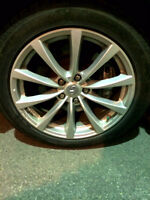 Infiniti Mags with Winter Tires (Can fit on almost any car)