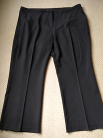 **As new** Smart black trousers (sz24)