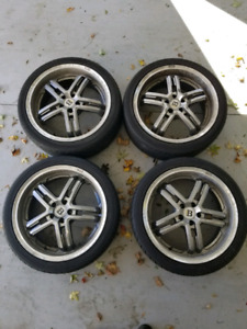Set of 4 All Season Tires with rims