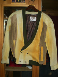 MUSTARD COLOR SUEDE JACKET