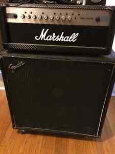 Marshall amp and Fender cabinet for sale