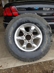 Set of 265\75R16 tires and chrome rims 1000$ O.B.O