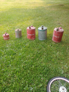 OLD STEEL GAS CANS