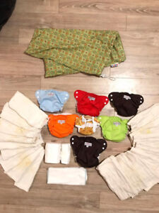 Cloth Diapers (Apple Cheeks), Inserts, and Laundry Bag!