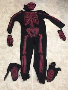 Skeleton costume size 10-12
