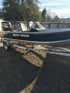 16ft misty river aluminum fishing boat