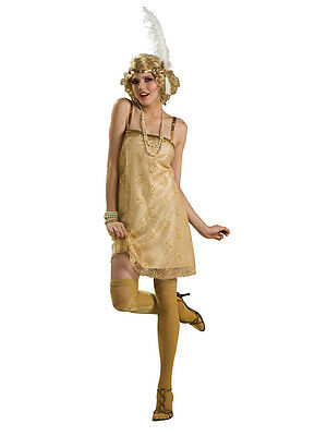 Ladies Gatsby Girl Fancy Dress Adult Costume Flapper Charleston New 20's Outfit ()