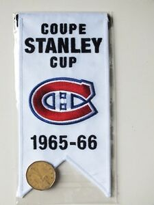CENTENNIAL STANLEY CUP 1965-66 BANNER MONTREAL CANADIENS HABS Gatineau Ottawa / Gatineau Area image 2