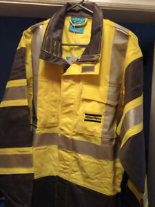 Industrial work safety coveralls - Brand new - Neon/Grey