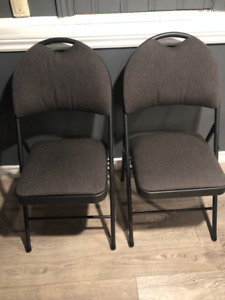 Chairs - Padded folding chairs x6