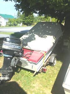 Boat motor trailer package