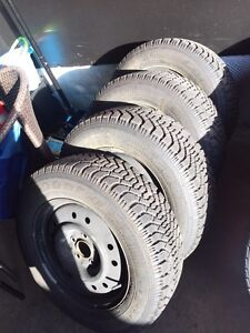 ^^* GOODYEAR NORDIC NEW TIRES ON RIMS!!