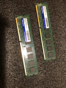 2 ADATA DDR3 4 Gb memory sticks