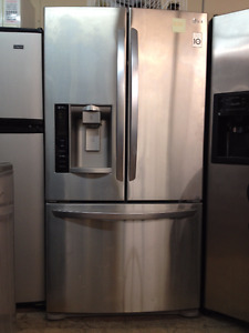 "LG Stainless French Dr, fridge 36"" w x 68 3/4"" h x 32""deep"