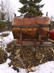 Water tank for skidder also fire hoses