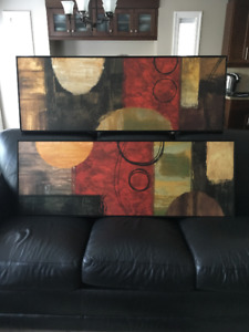 Two Framed Abstract Paintings