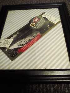 Autographed BOBBY ORR Game Ticket (FRAMED) w/ C.O.A.