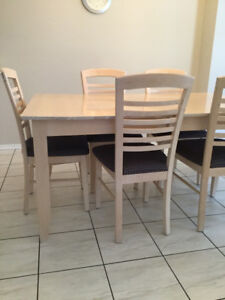 Two Dining Room Tables Each With 6 Chairs One Hutch