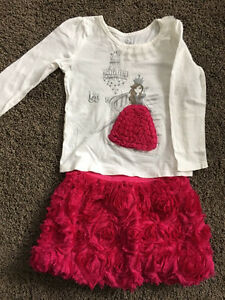 Girl's Princess t-shirt and skirt set