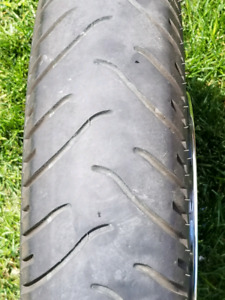 Harley Davidson chrome front rim with rubber