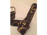 Stunning Jigsaw leather sequinned belt immaculate condition