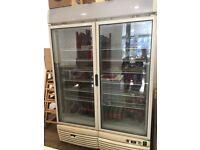 Glass/double door display freezer for sale