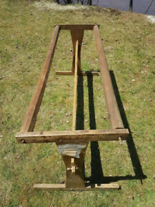 antique wooden quilting frame