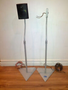 B-Tech Grey speaker stands pair