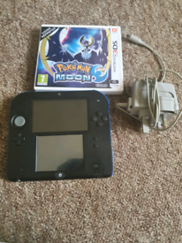 2ds with game memory card charger no styler