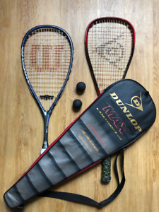 Squash rackets in good conditions