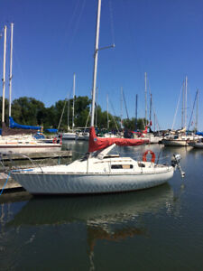22 foot sailboat, tandem trailer & Honda 4 stroke