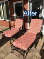 It's not too late to have your PATIO CUSHIONS RECOVERED !!!!!