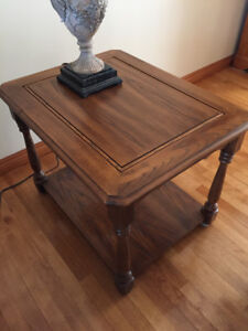 SOFA TABLE AND 2 MATCHING END TABLES