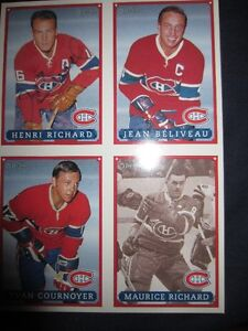 4 CARD UNCUT PROMO SHEET O.P.C.CANADIENS W/ AUTOGRAPH