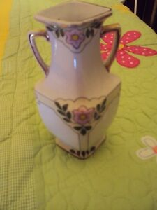 Antique Royal Nippon Studio hand painted art vase early 1900's