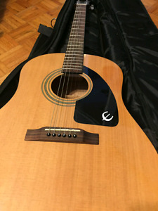 Epiphone PR-150 Acoustic - Like New. (Gig Bag and Capo)