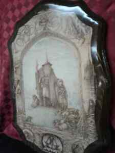 Rare Lord of the Rings  on Wood -Few in the WORLD MADE Windsor Region Ontario image 1