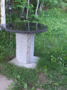 Round Granite garden table