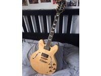 Epiphone Sheraton Semi Hollow Body guitar, similar to GRETSCH, Gibson, Sheraton.