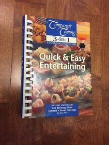 Entertaining hard cover cook book