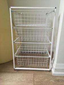 IKEA ALGOT mesh/wire drawers