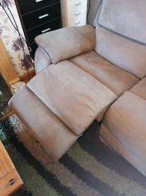 Corner sofa double recliner