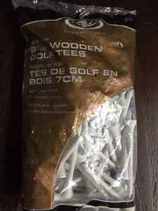 """Brand new wooden golf tees 2 3/4"""" 100 pieces in a bag"""